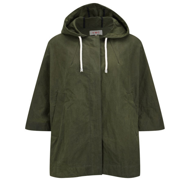 YMC Women's Hooded Cape - Khaki