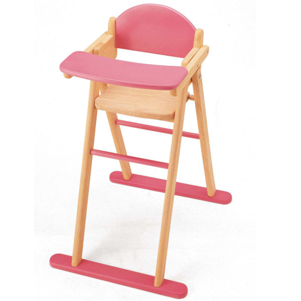 High Chair Toy Holder : Pintoy wooden dolls high chair toys zavvi