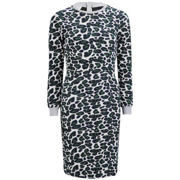 Baum und Pferdgarten Womens Ethena Dress - Grey Leopard