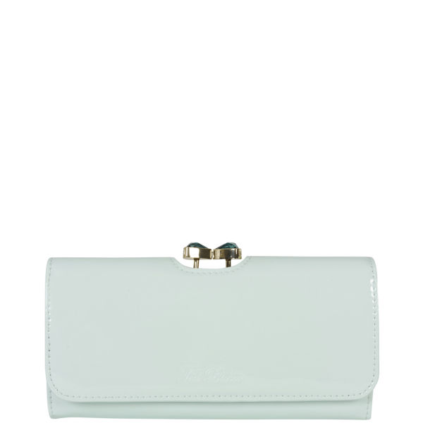 62c62917e Ted Baker Women s Titiana Leather Bow Crystal Top Matinee Purse - Powder  Blue  Image 1