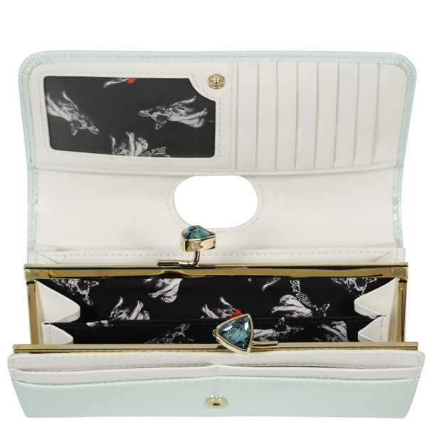 e646667c0 Ted Baker Women s Titiana Leather Bow Crystal Top Matinee Purse - Powder  Blue  Image 4