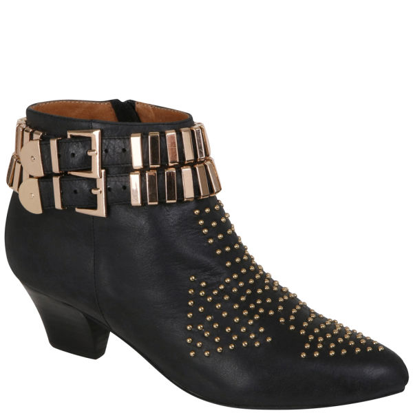 Jeffrey Campbell Women's Benatar Leather Ankle Boots - Black