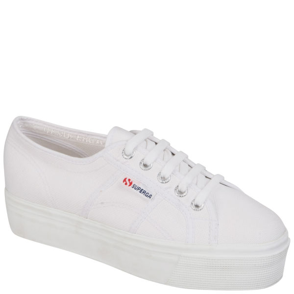 Superga Women's 2790 Up and Down Flatform Trainers - White