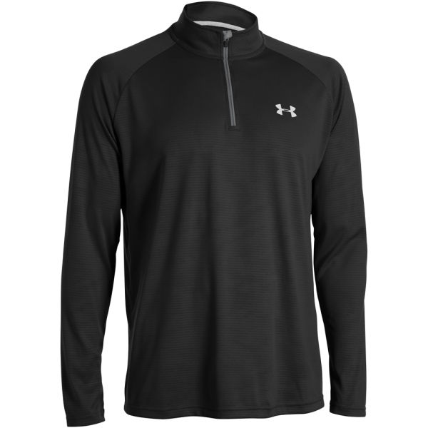 df9cbbffb Under Armour Men's Tech 1/4 Zip Long Sleeve Top - Black | Buy Online ...