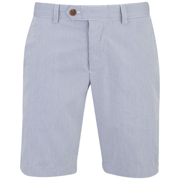 Blue And White Striped Shorts Mens - The Else