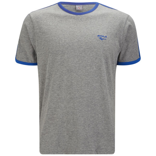 Gola Men's Melrose T-Shirt - Grey Marl/Cobalt Blue