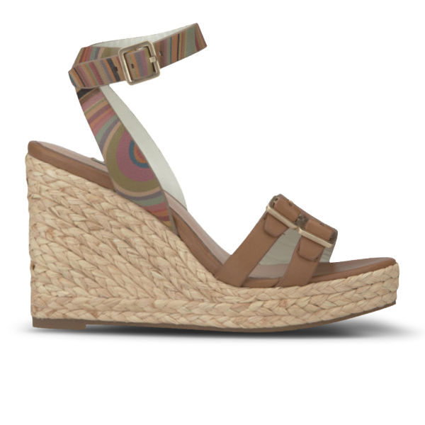 Paul Smith Shoes Women's Magda Leather Wedges - Light Tan Servo Lux