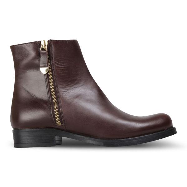 KG Kurt Geiger Women's Sadie Leather Ankle Boots - Brown