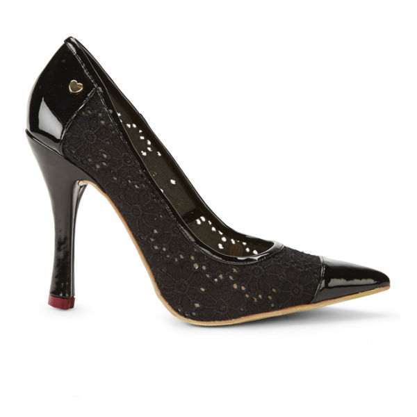 Love Moschino Women's Macrame Decollete Heels - Black
