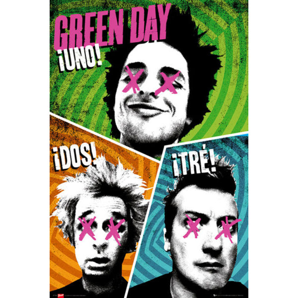 Green Day Trio - Maxi Poster - 61 x 91.5cm