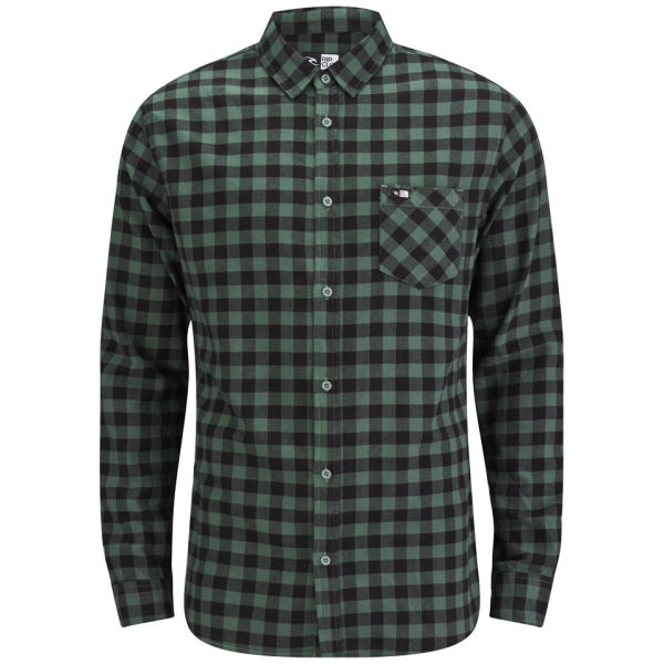 Rip curl men 39 s dropped long sleeve check shirt amazon for Black and white check mens shirt