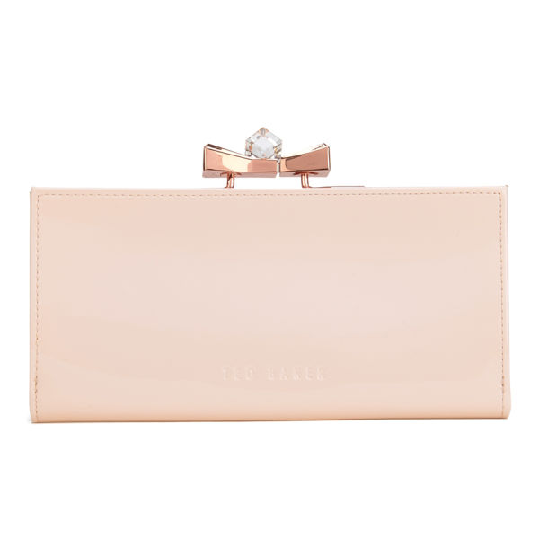 0a6e90e420307 Ted Baker Women s Franny Patent Crystal Popper Matinee Purse - Nude Pink   Image 1