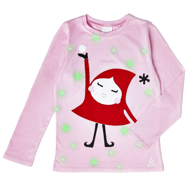Dark little shirts girls for t in glow the