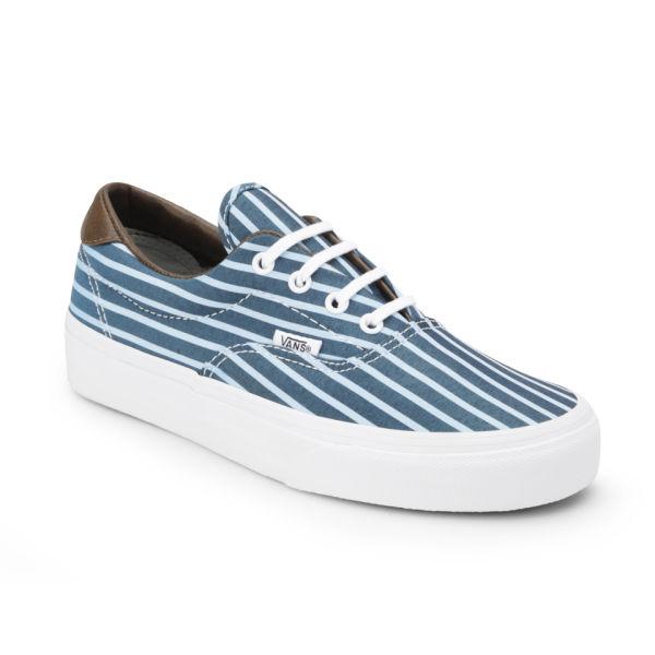 f6e5e305c3f6dc Vans Women s Era 59 Stripes Trainers - Blue True White Womens ...