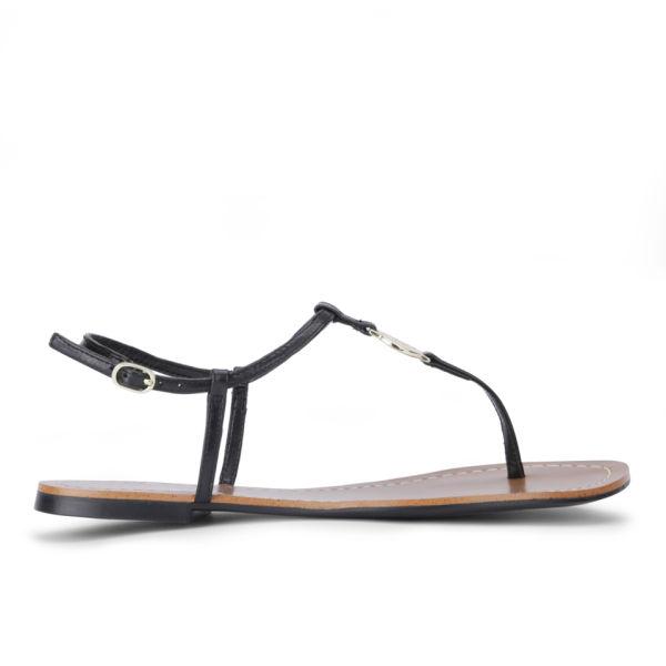 Lauren Ralph Lauren Women's Aimon Leather Sandals - Black