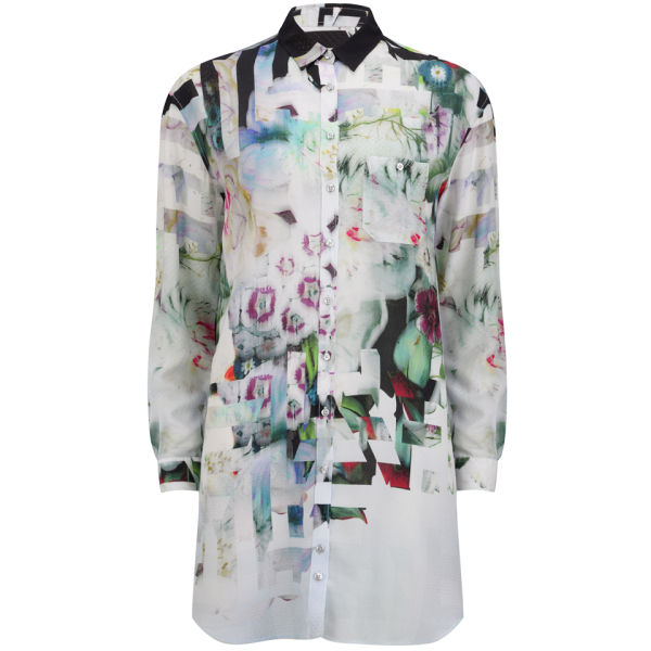 Paul by Paul Smith Women's Underwater Floral Oversized Shirt Dress - Anthracite