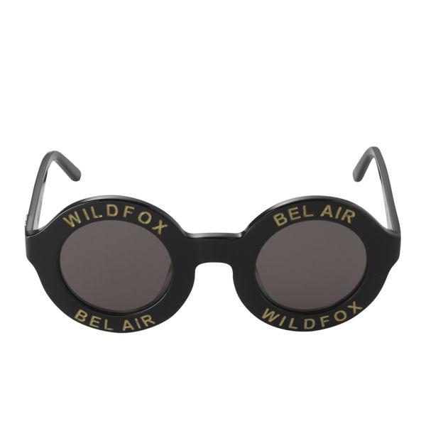 Wildfox Bel Air Round Sunglasses - Black/Grey