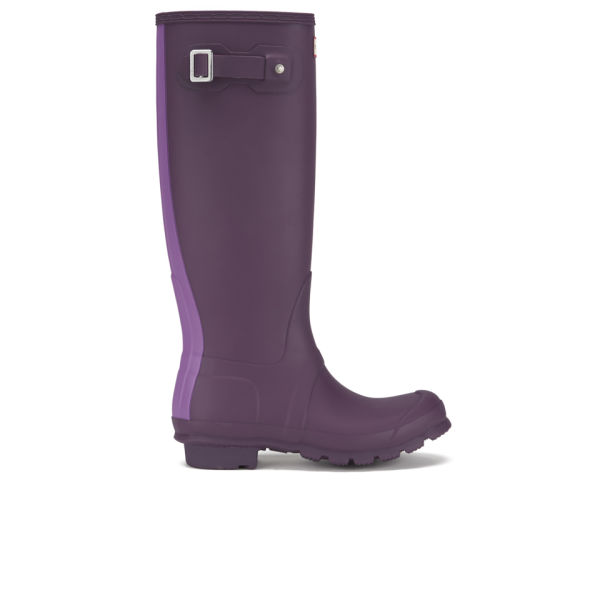 Hunter Women's Original Stripe Wellies - Bright Plum