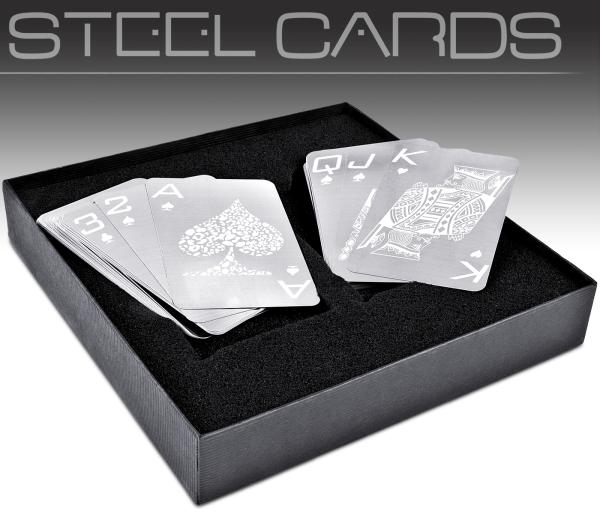 Nevada Stainless Steel Playing Cards Unique Gifts Zavvi
