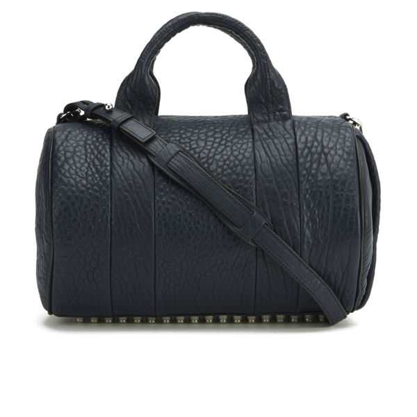 Alexander Wang Rocco Pebbled Leather Bowler Bag - Neptune