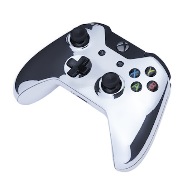 Xbox One Wireless Custom Controller - Chrome Silver Games ...