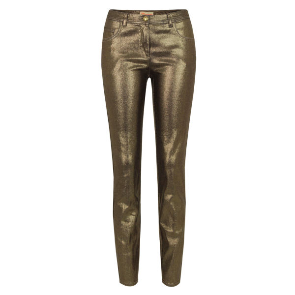MW Matthew Williamson Women's 458 C094 Skinny Jeans - Gold Foil