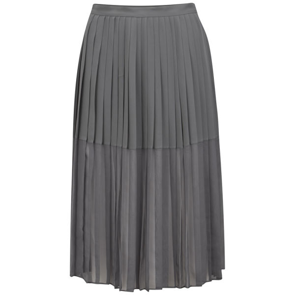 By Malene Birger Women's Pleated Midi Skirt - Grey
