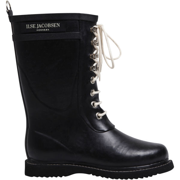 Ilse Jacobsen Women's 3/4 Rubber Boot - Black