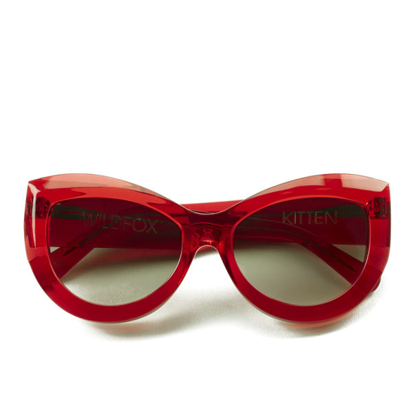 Wildfox Kitten Cat's Eye Sunglasses - Translucent Red