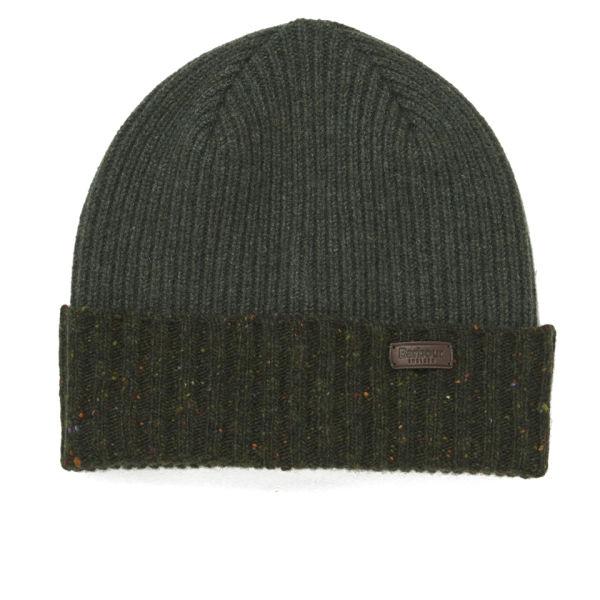 Barbour Cassop Fleck Pom Hat - Olive