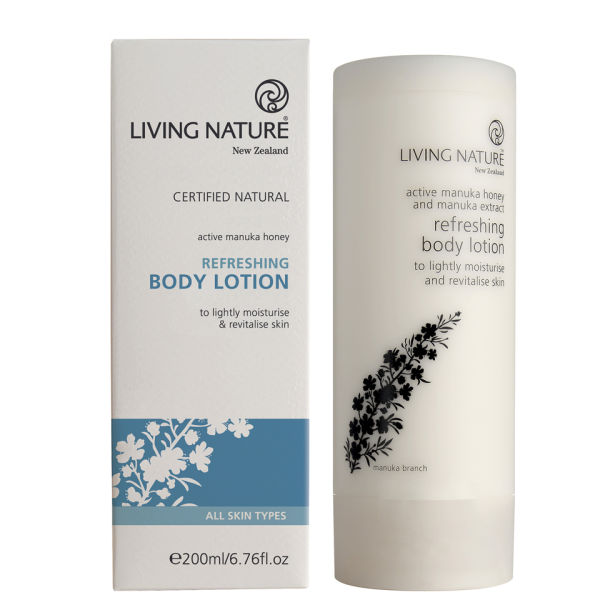 Loción corporal refrescante de Living Nature (200 ml)