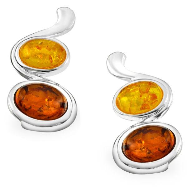 Amber Oval Drop Earrings