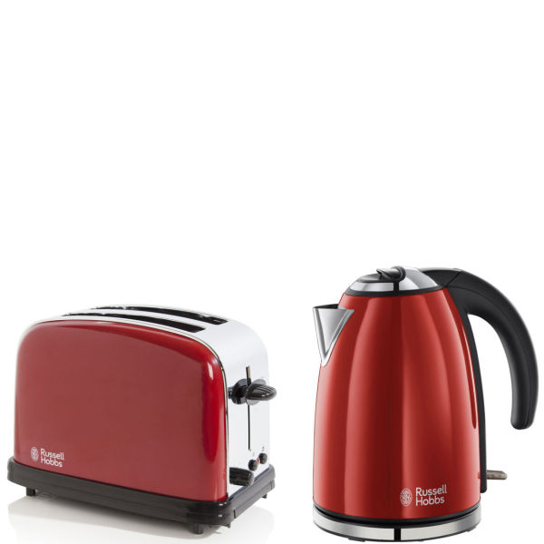 Russell Hobbs 1.7 Litre Jug Kettle - Flame Red and 2 Slice ...