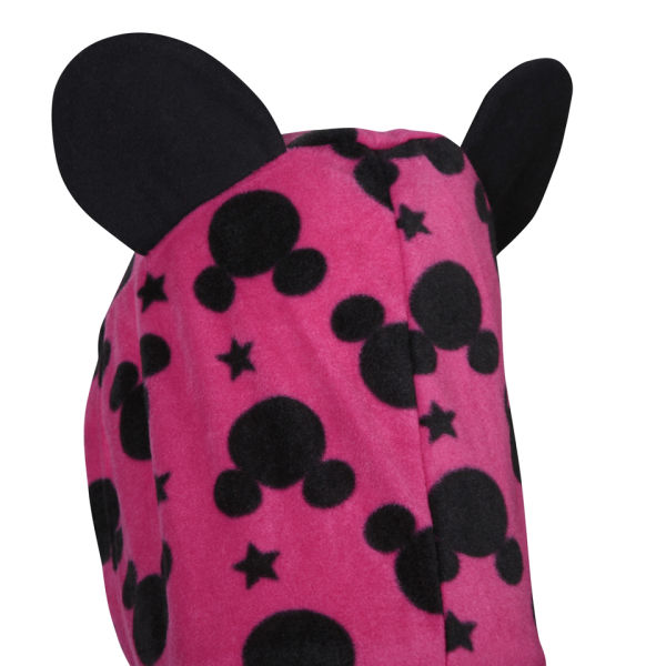 micky maus damen bedruckt fleece onesie pink schwarz. Black Bedroom Furniture Sets. Home Design Ideas