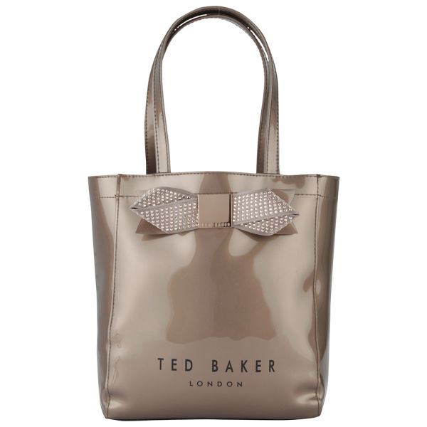 Ted Baker Women S Ticon Metallic Small Bow Gem Icon Bag Rose Gold Image 1