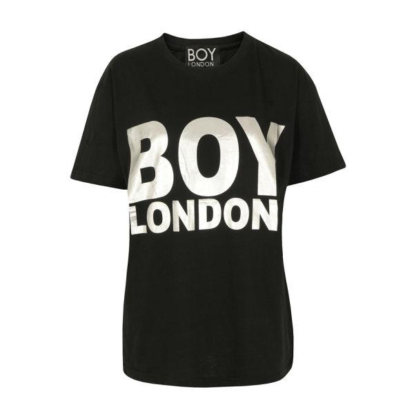 Boy London Women's Boy Silver Foil Tee - Black