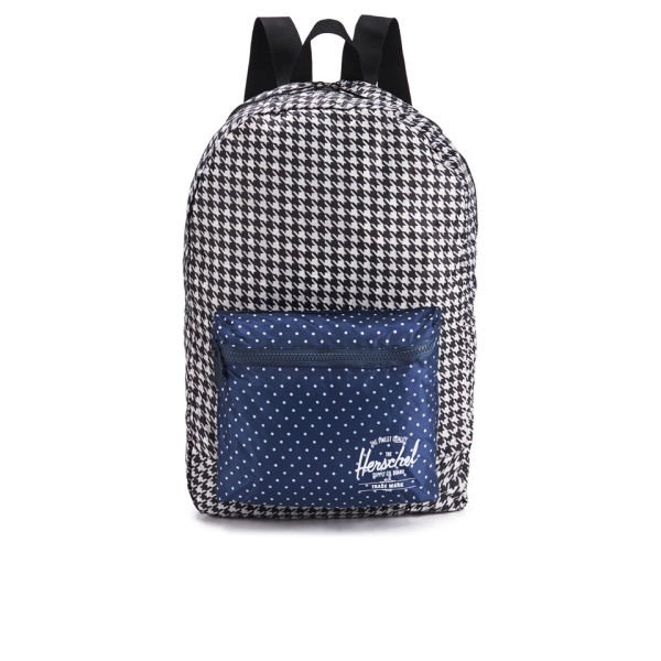 Herschel Supply Co. Packable Daypack Backpack - Houndstooth/Navy Polka Dot