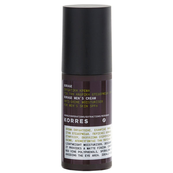 Korres Borage Anti-Shine Men's Moisturiser Creme 50ml