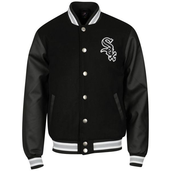 Majestic Men's Chicago White Sox Fastball Letterman Jacket