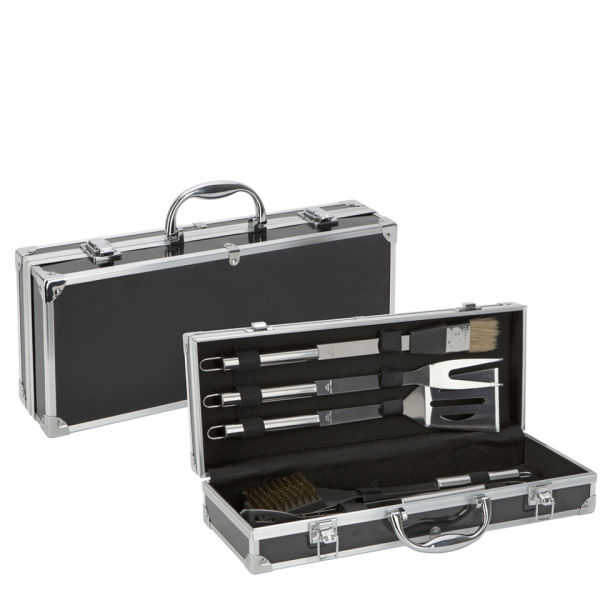 Hell39s kitchen 5 piece bbq tool set iwoot for Furniture hell s kitchen