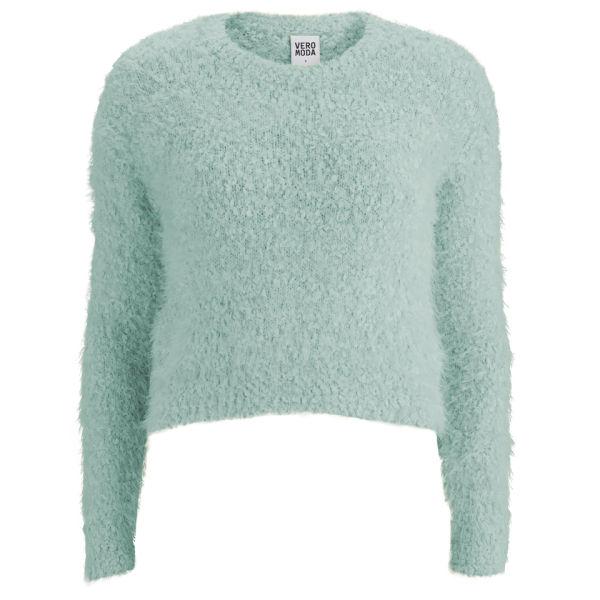 Vero Moda Women's Fluffy Jumper - Mint