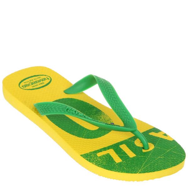 Havaianas Unisex Team Brazil Flip Flops - Yellow