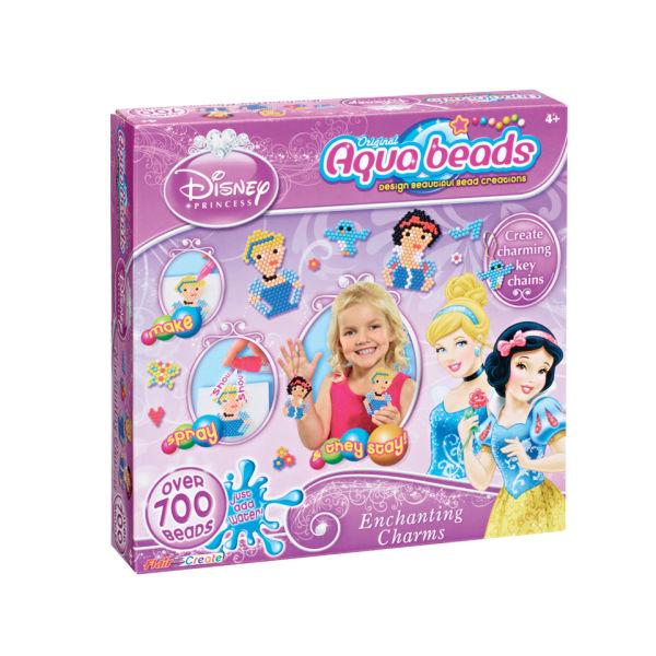 Princess Beads: Aqua Beads Disney Princess Enchanting Charms Merchandise