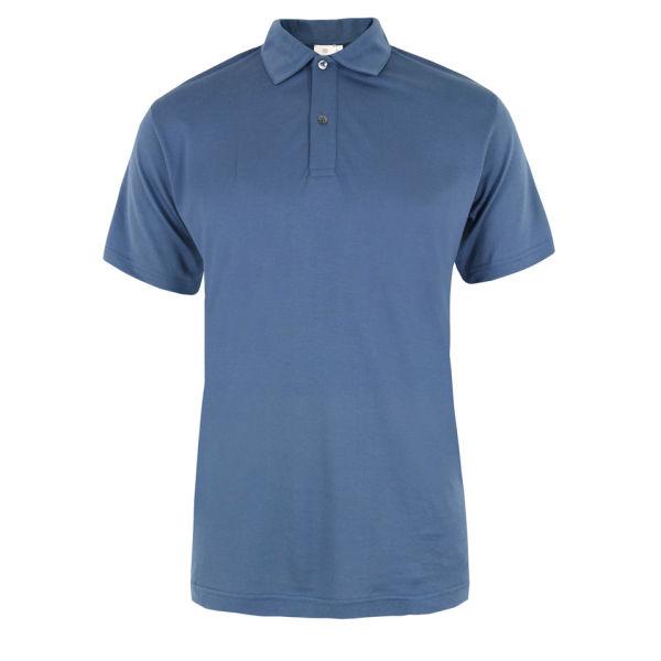 Sunspel Men's 0350 Polo Shirt - Blue Shadow