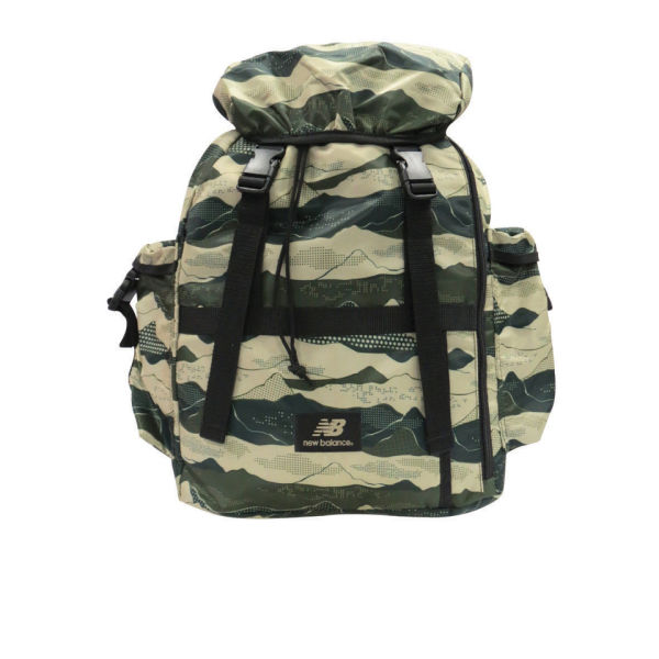 New Balance Men's AOP Backpack - Bronze/Green