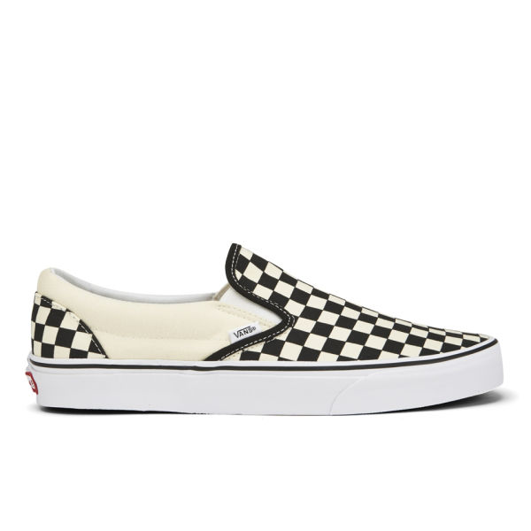Vans Classic Slip-On Canvas Trainers - Black/White