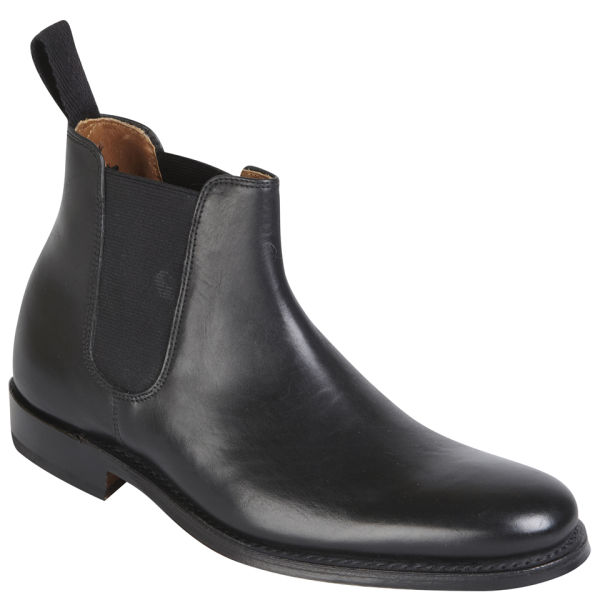 Popular Grenson Womenu0026#39;s Alice Brogue Leather Chelsea Boots - Black Calf - Free UK Delivery Over U00a350