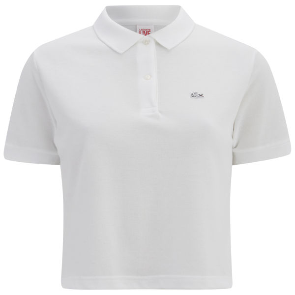 Lacoste Live Women's Cropped Polo Shirt - White
