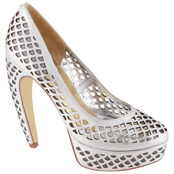 Ted Baker Women's Poppy D Court Shoes - Silver Leather