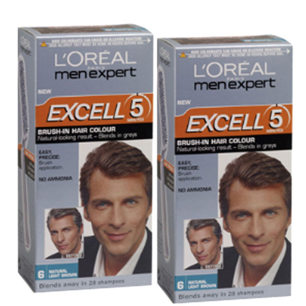 Loreal Paris Men Expert Excell 5 Brush In Hair Colour Natural